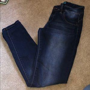 Butt lift dark wash skinny jean